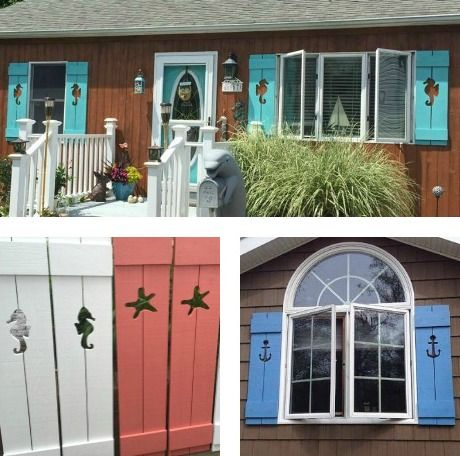 Decorative Coastal Window Shutters For Curb Appeal In 2019