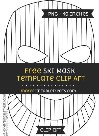 Free Ski Mask Template Clipart Mask Template Clip Art Free Skiing