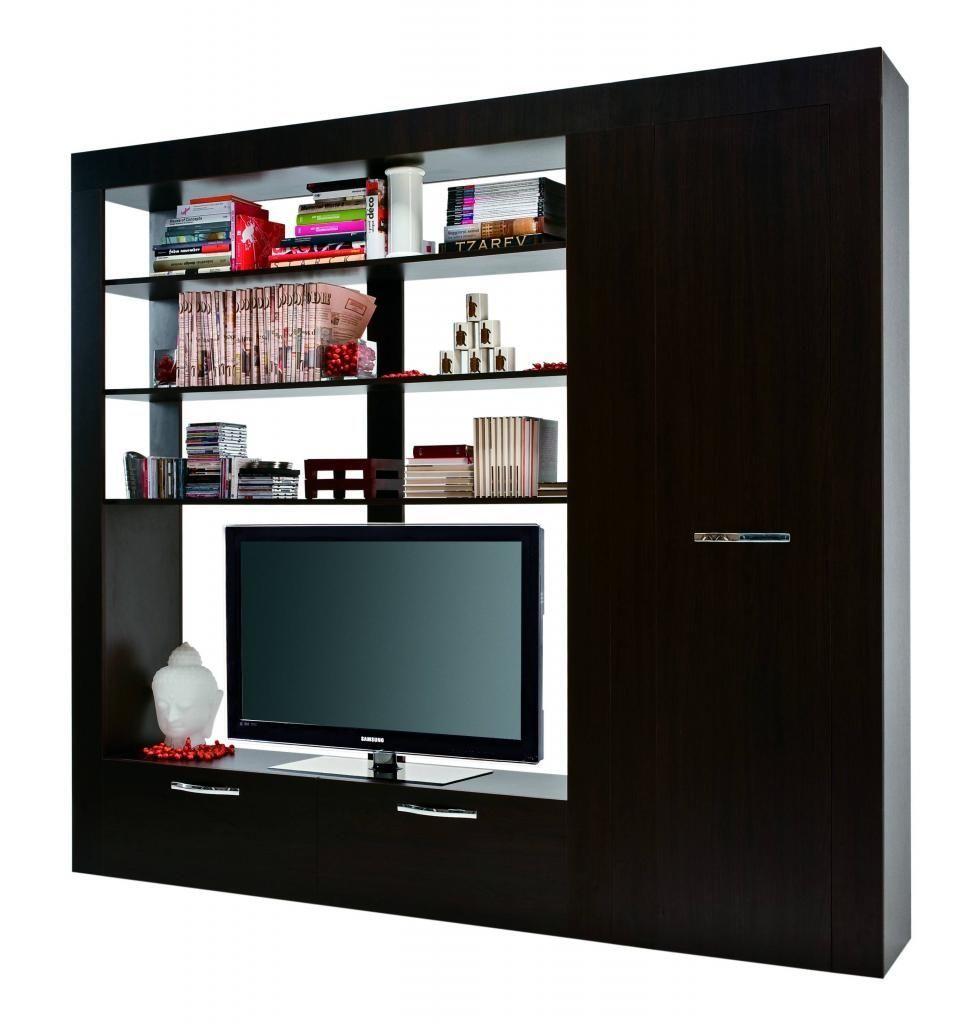 Mobile Porta Tv E Libreria.Mobile Soggiorno Carre Per Televisore Con Libreria Carre E Un
