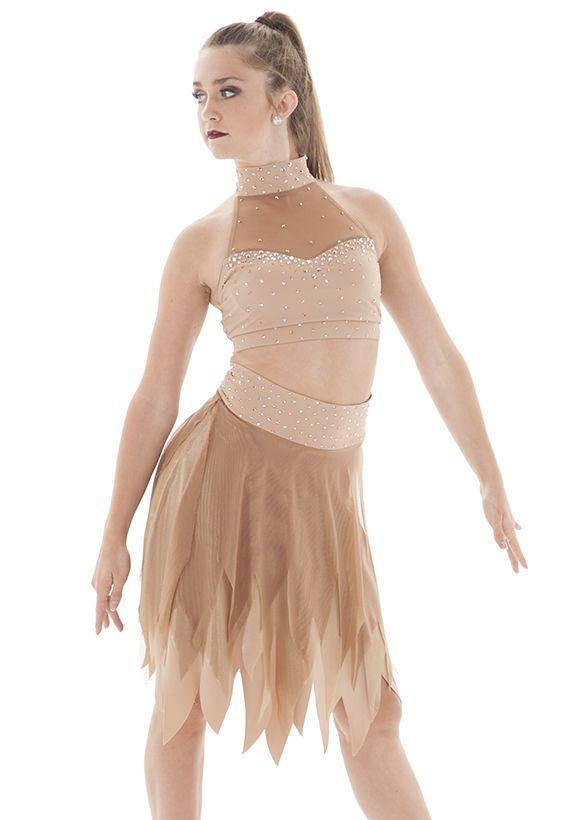 Henrie- Nude Tan Pretty Contemporary Crop Top - Perfect -1127