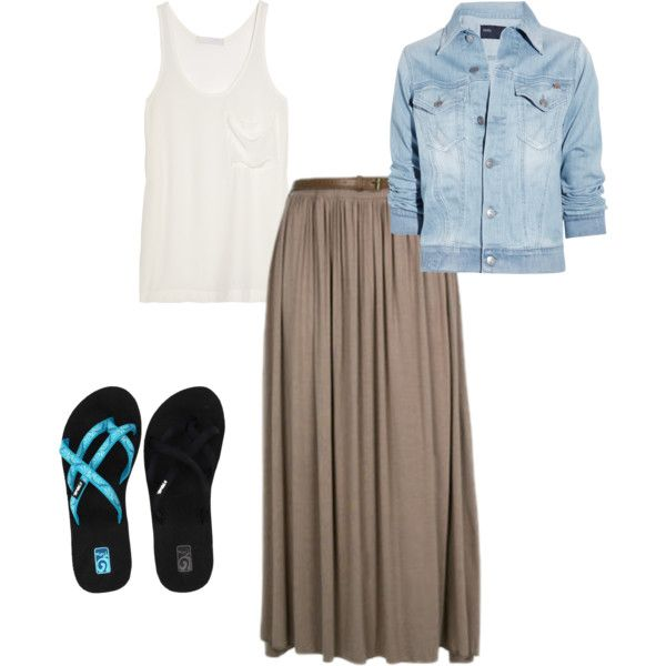 maxi skirt casual, created by susie-shaffer-campbell on Polyvore