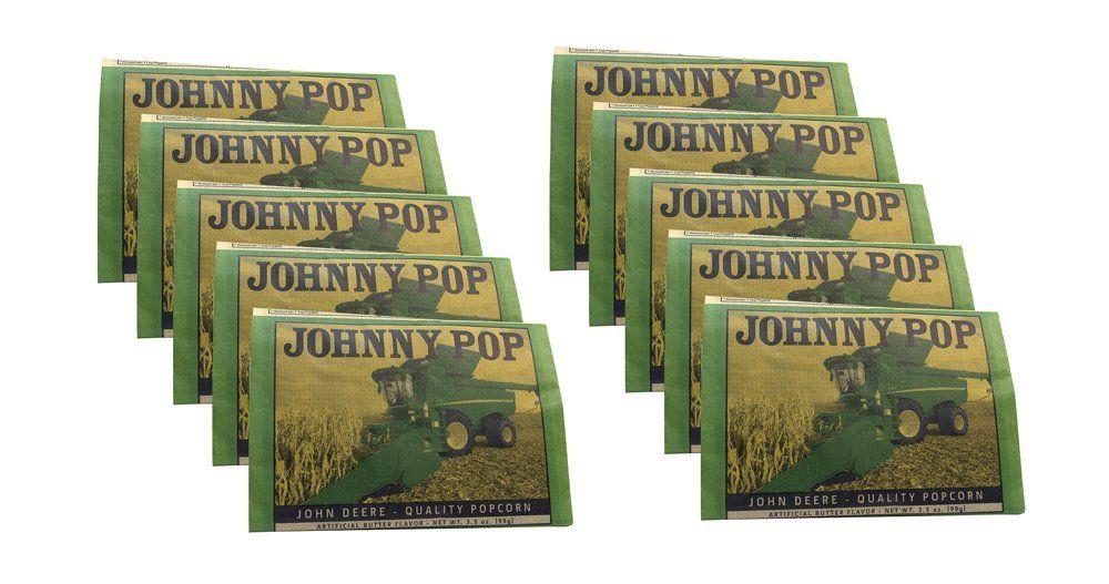 John Deere Johnny Pop Quality Popcorn - 10 Pack