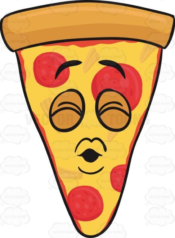 Pouting Slice Of Pepperoni Pizza Emoji Americanpizza Blowkisses