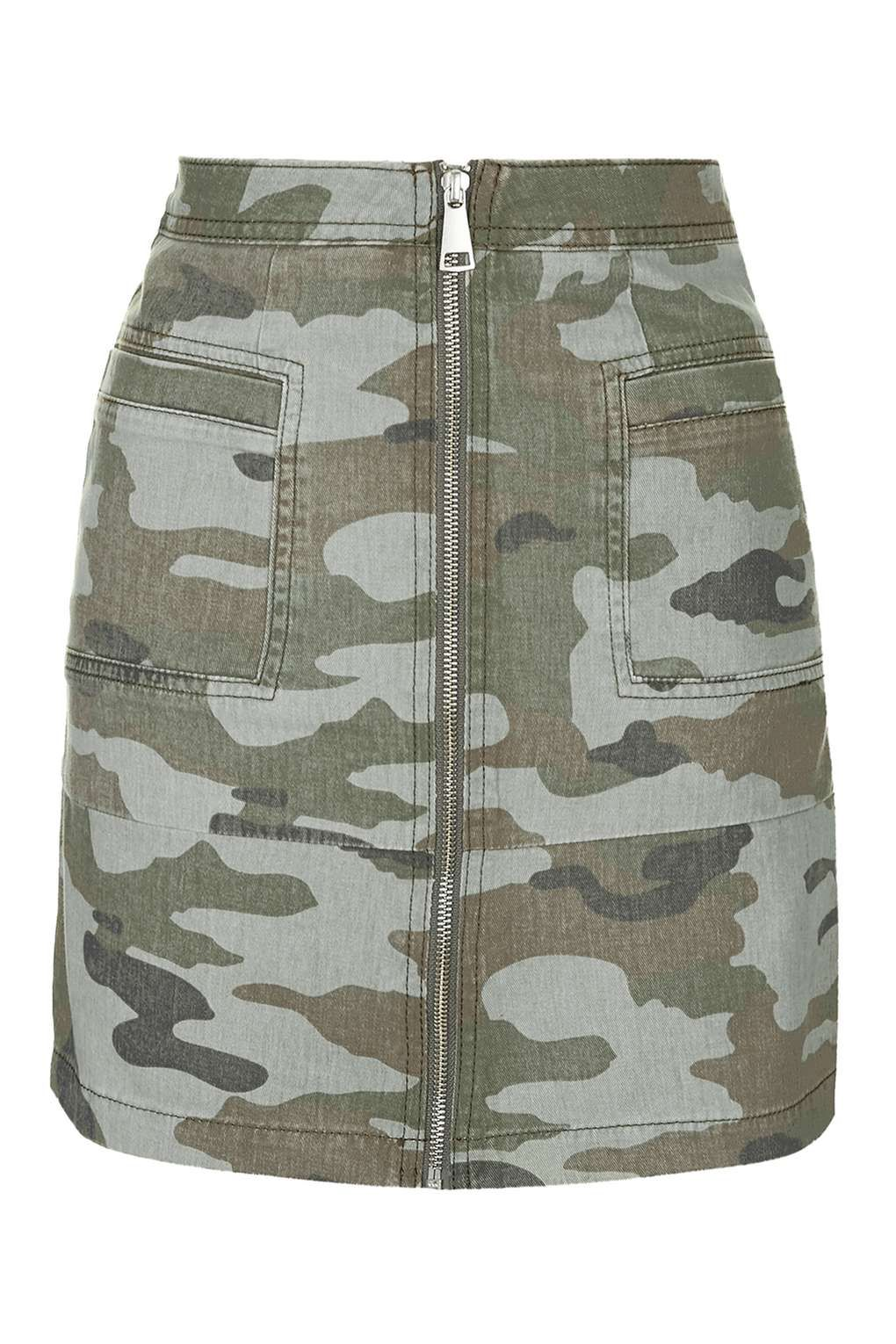 Womens Army Camo Stretchy Side Ruched Bodycon Ladies Pencil Tube Mini Skirt 8-14