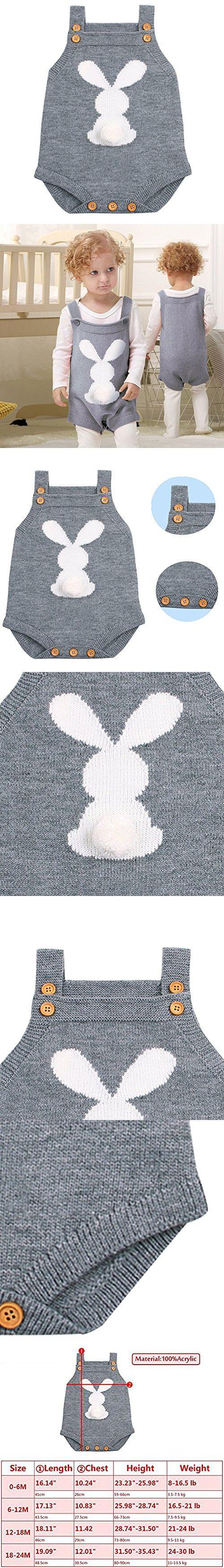 SANGTREE BABY Hoodie Playsuit with Cute Rabbit Ears