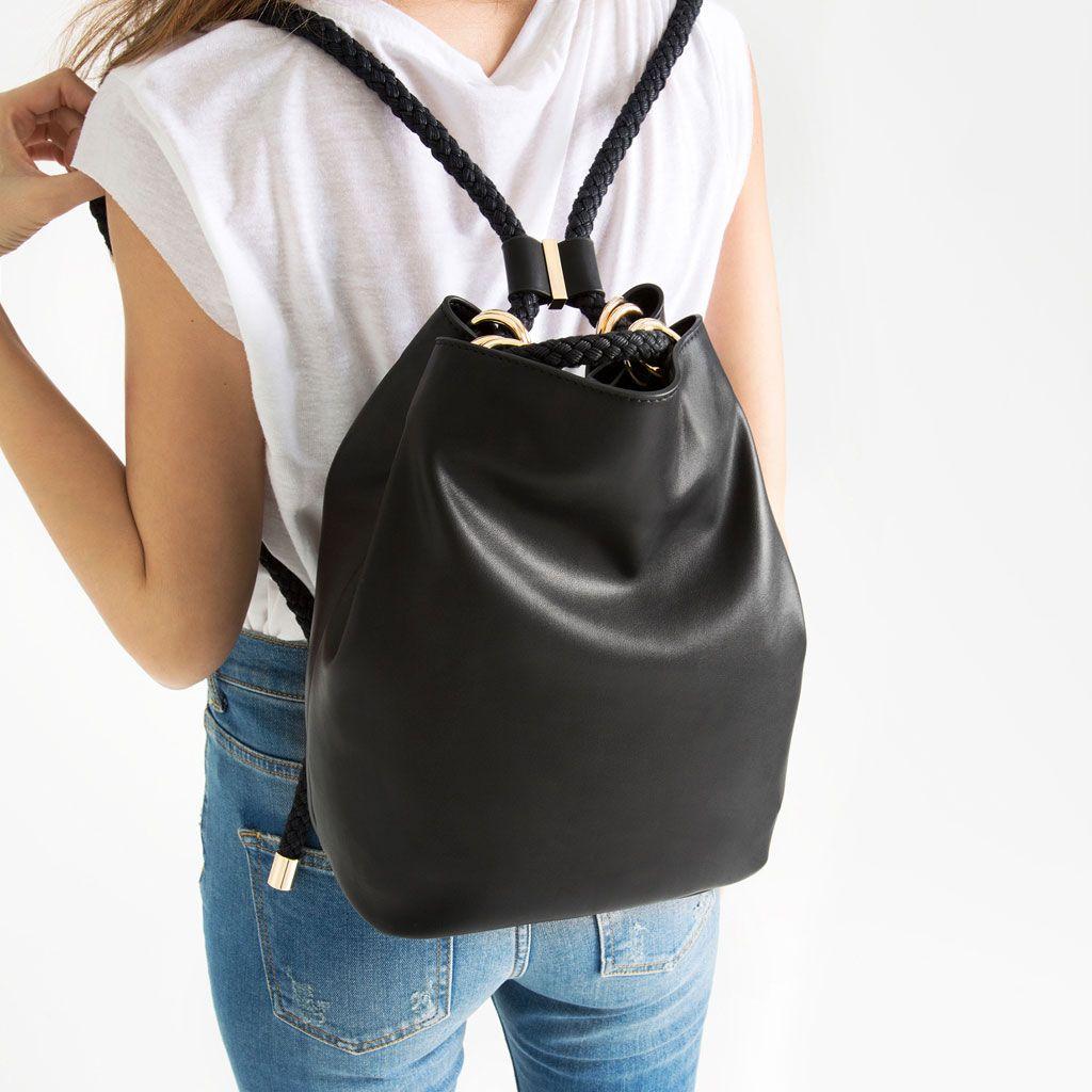 sac convertible avec corde sacs dos sacs femme zara france sac accessoires pinterest. Black Bedroom Furniture Sets. Home Design Ideas