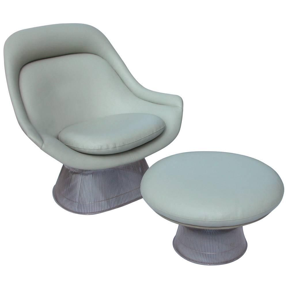 Vintage Mid Century Knoll Platner Lounge Chair and Ottoman | Lounge ...