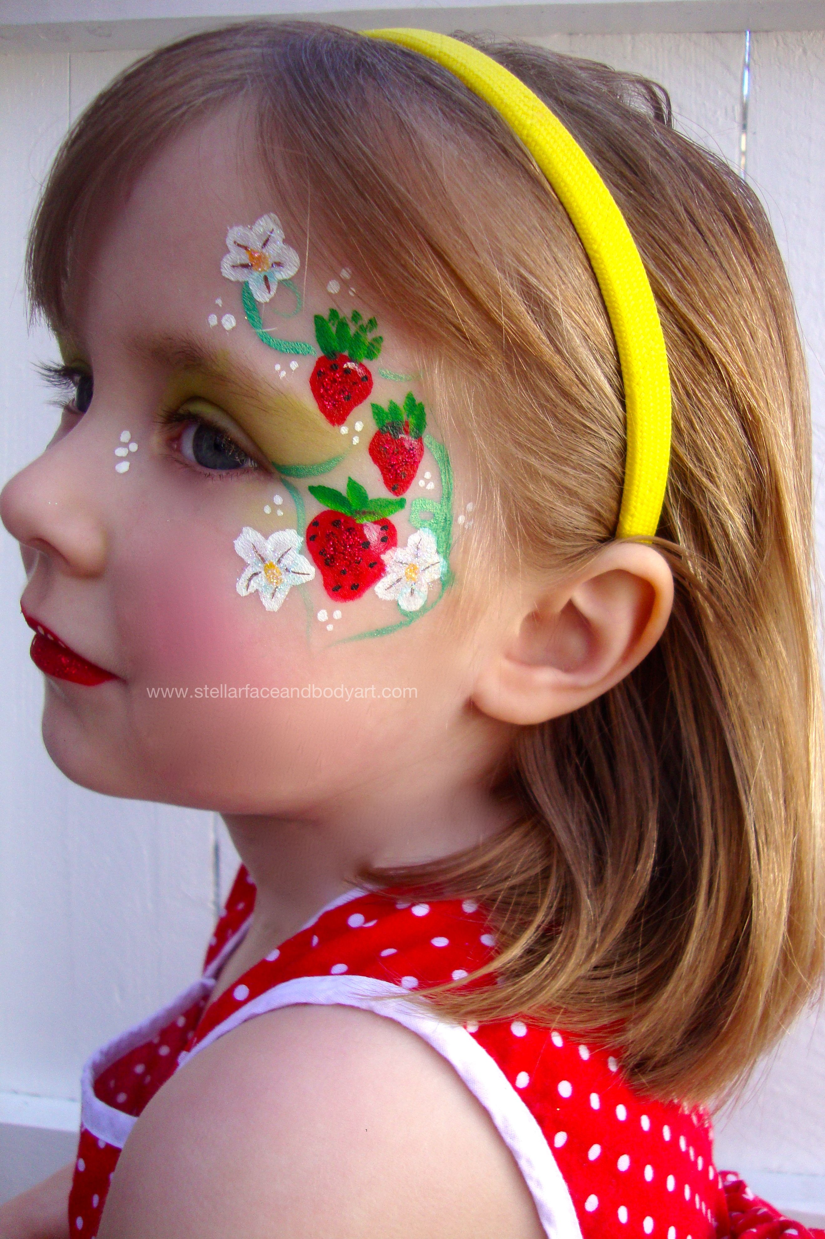 strawberry face painting maybe other fruit i can only do simple face painting though. Black Bedroom Furniture Sets. Home Design Ideas