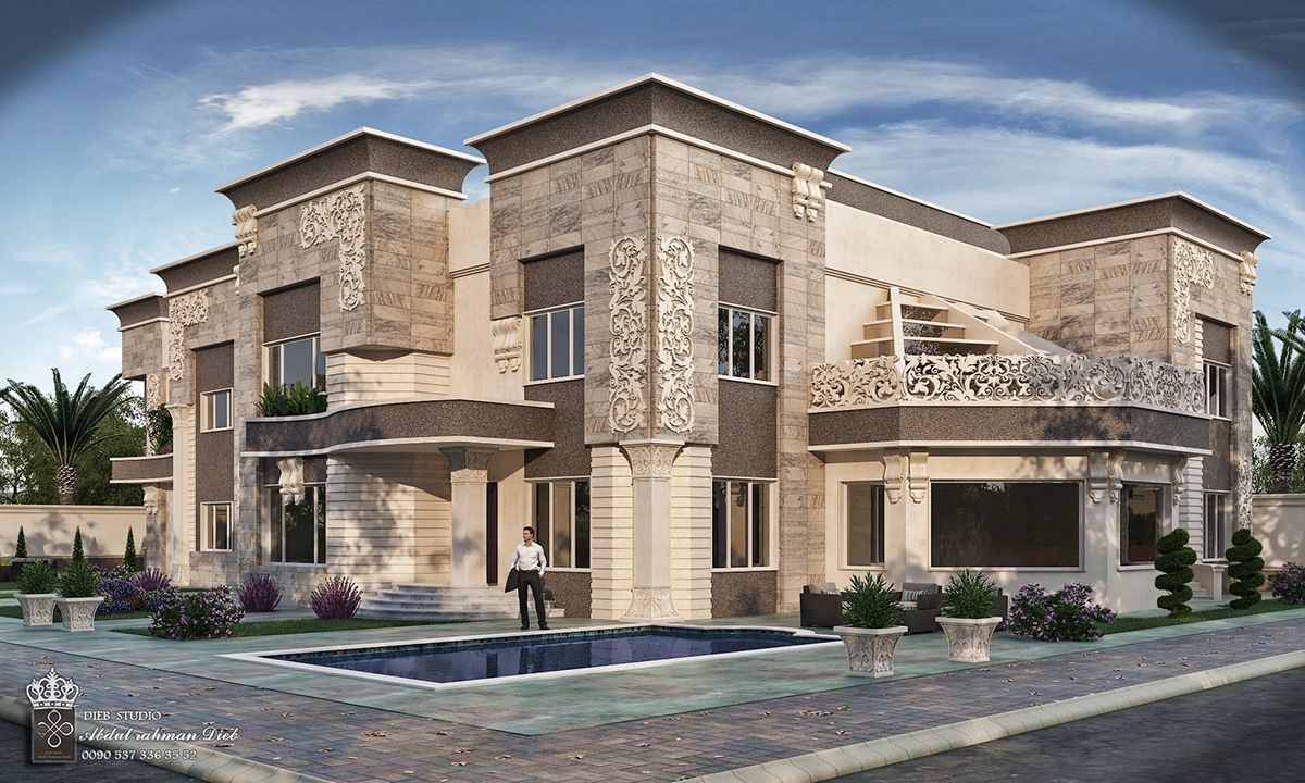 Strange Simple New Classic Villa On Behance House Architecture Design Classic House Exterior Small House Design