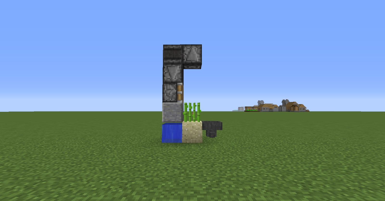 my minecraft smallest possible sugar cane farm!