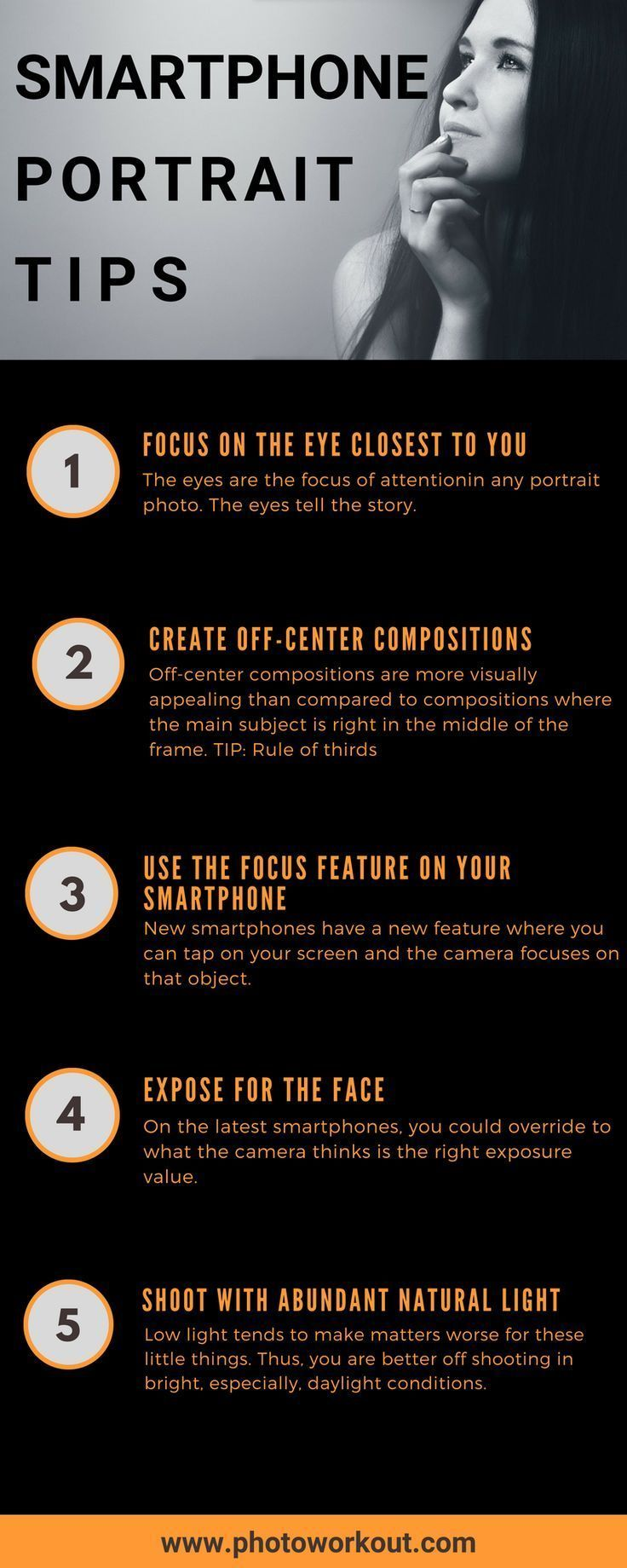 3 Smartphone Photography Tips For Casual Photographers: The Best Smartphone Portrait Photography Uncovered (5 Tips