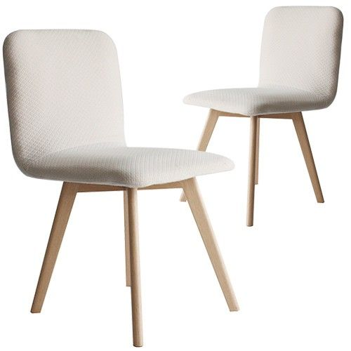 Set Of 2   Phoenix Dining Chair   Cream   Cozy Lane Apartment Furniture  Milan Direct
