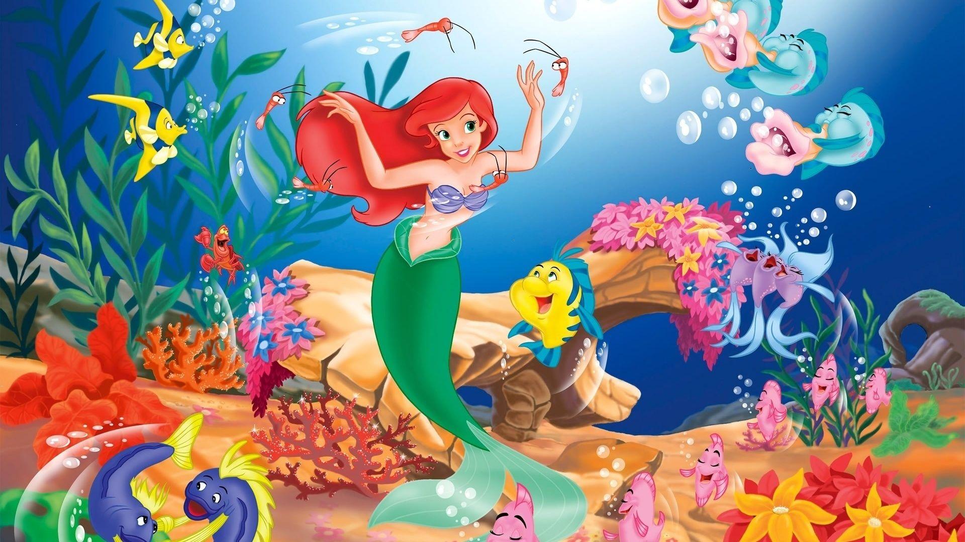 Cartoon Hd Desktop Wallpapers Free Download Jpg 1920 1080 Mermaid Cartoon Little Mermaid Wallpaper Mermaid Wallpapers