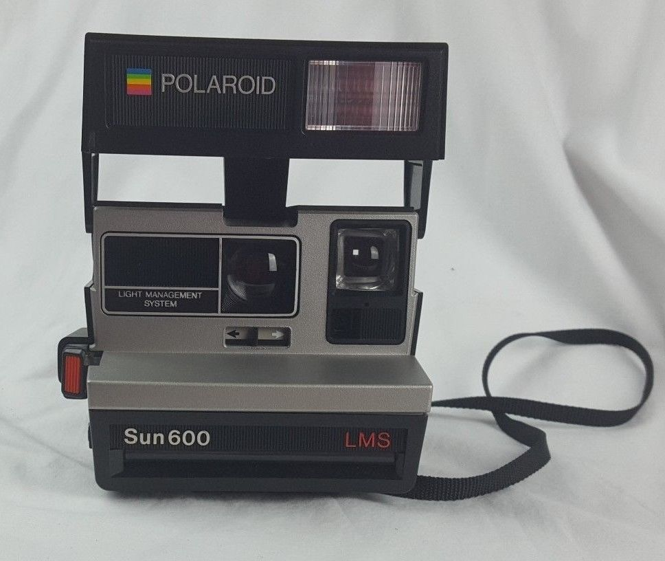 working vintage polaroid sun 600 lms instant camera with strap and rh pinterest com Changing Batteries for Polaroid 600 polaroid sun 600 manual pdf