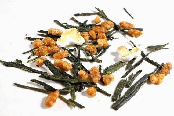 Photo of Genmaicha Green Tea. Roasted Rice Japanese Green Tea. All Natural Gourmet Loose …