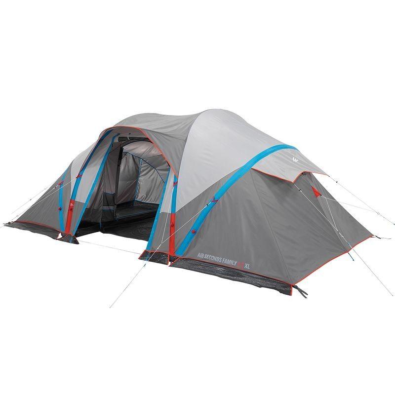 Randonnee Camp Du Randonneur Air Seconds Family 4 2 Xl Tente Randonnee Camping Tente Gonflable