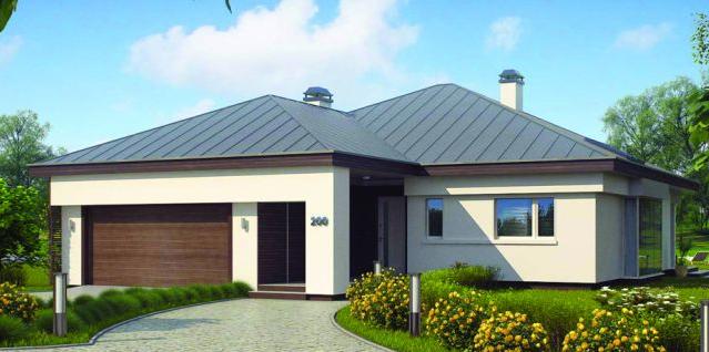 Plano de casa cl sica y moderna de 3 dormitorios y 2 - Garajes para coches ...