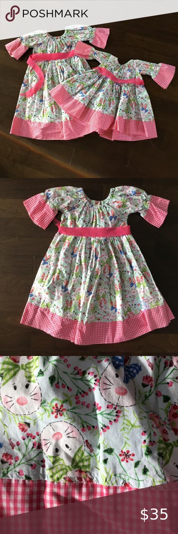 Handmade Easter Bunny Spring Pink Green Dress 4t In 2020 Pink And Green Dress Green Dress Dresses [ 1740 x 580 Pixel ]