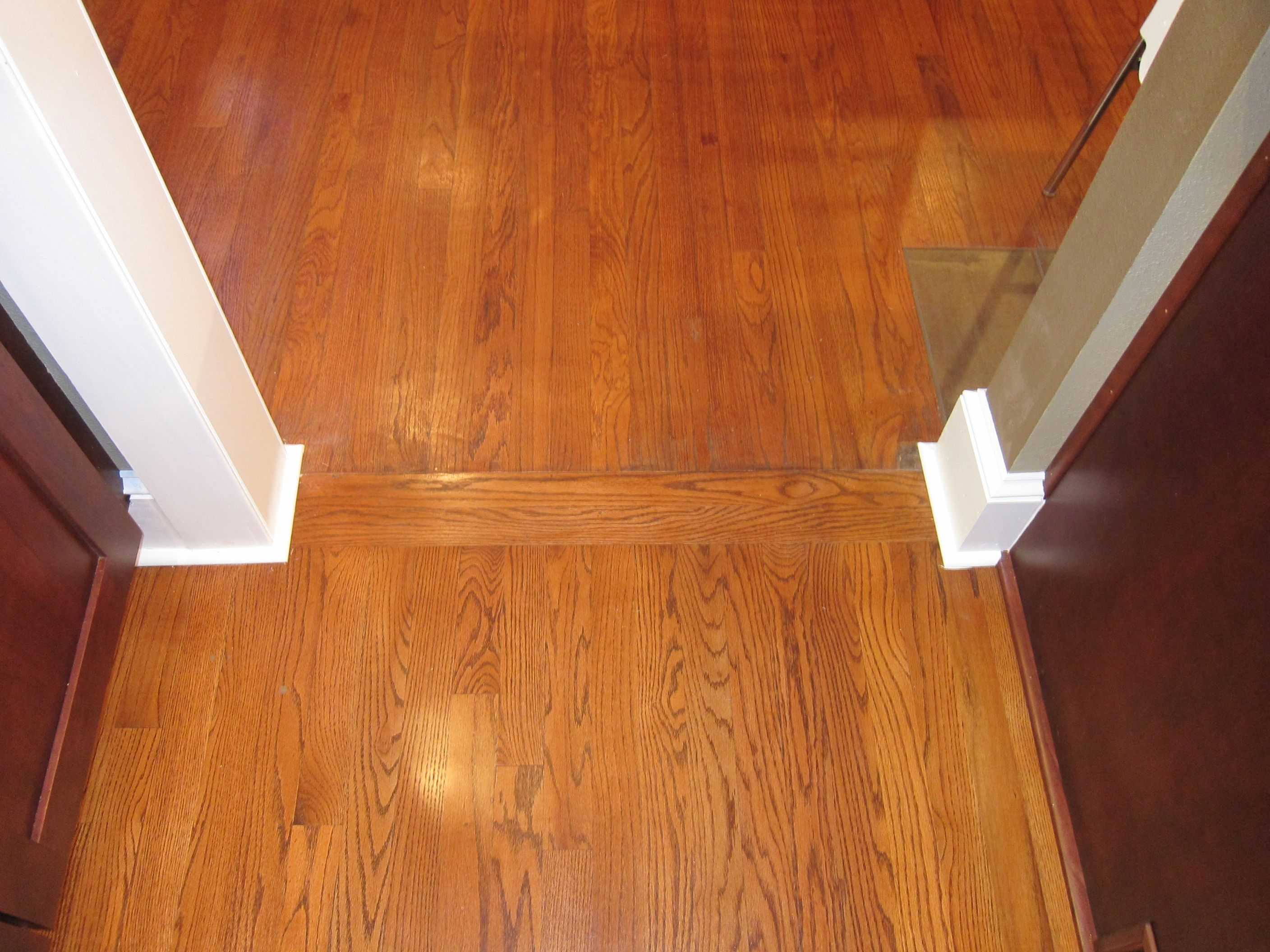 Transition between old wood floors and new old and new for Wood floor pieces