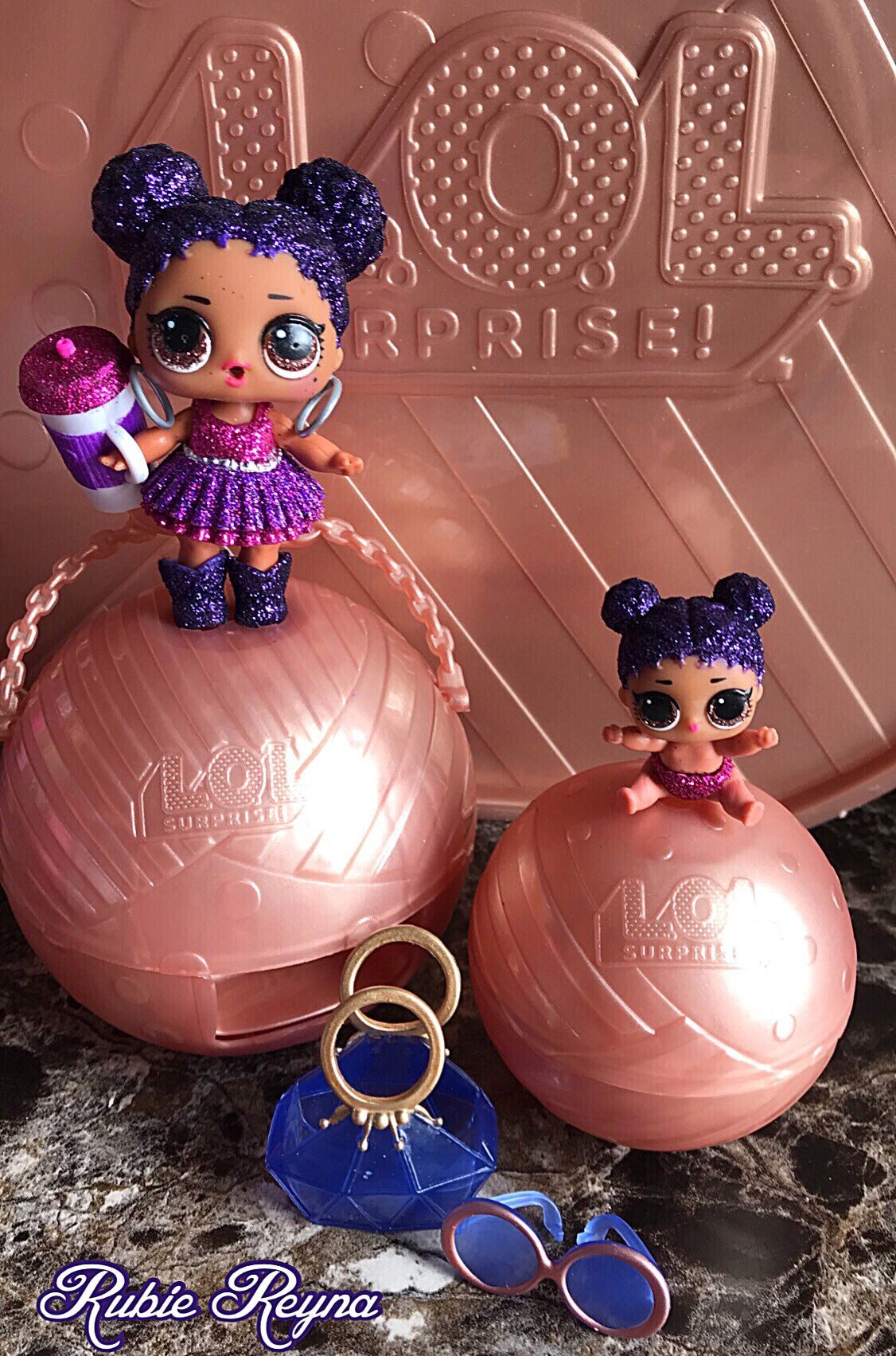 These Are My Daughter S Lol Dolls Purple Queen Her Lil Sister They Re Both Super Glittery And Just So Beautiful You Can Lol Dolls Toys For Girls Top Toys