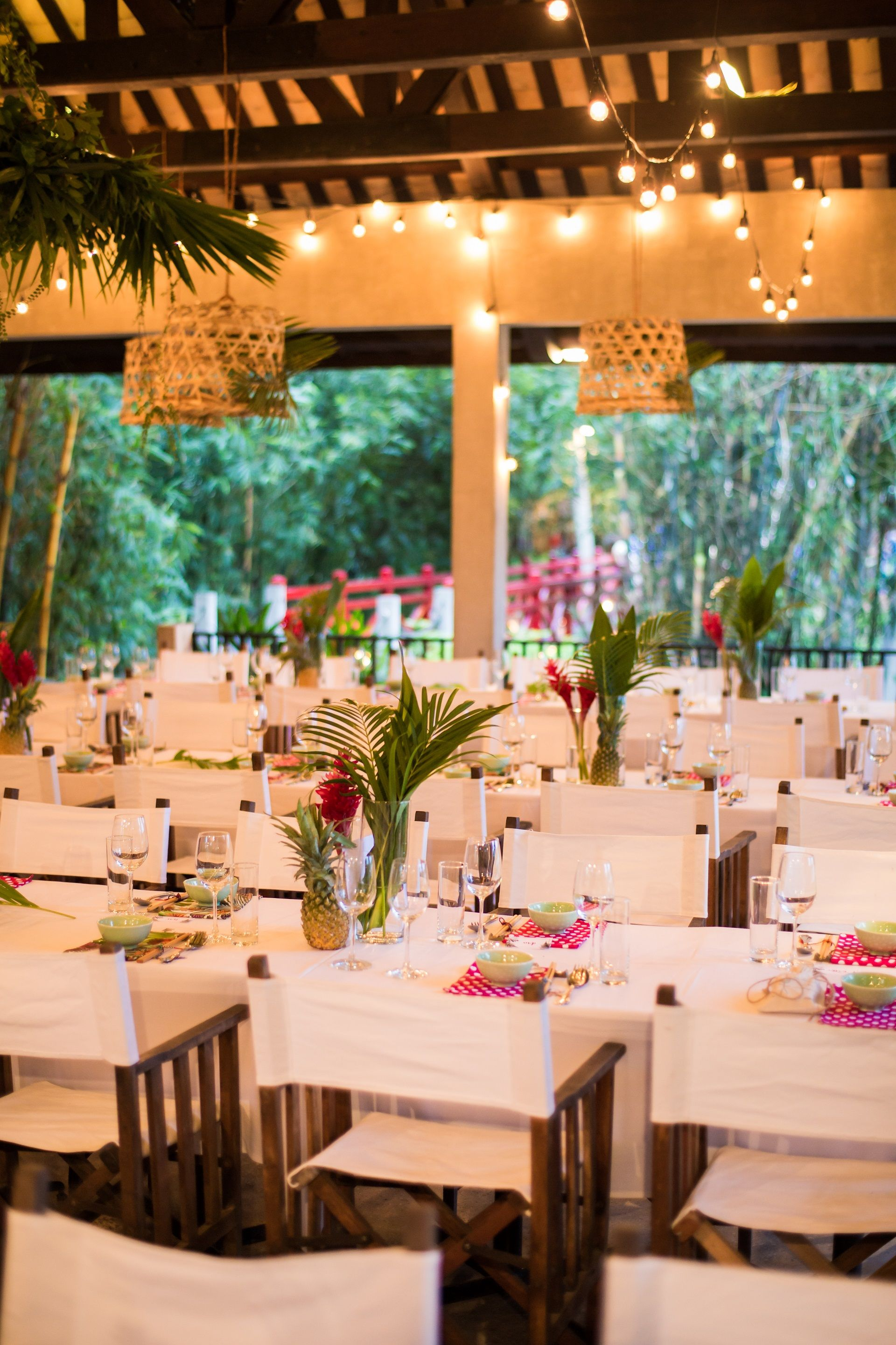 Go Tropical With Pineapples And Bright Colours For A Summery Feel During Your Wedding Reception