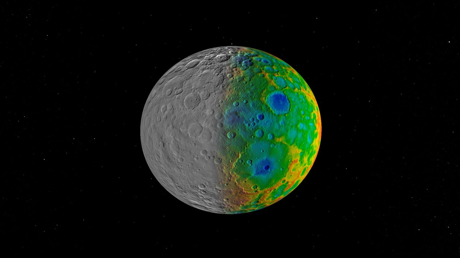 Scientists with NASA's Dawn mission have found that, surprisingly, Ceres lacks any truly large impact basins.