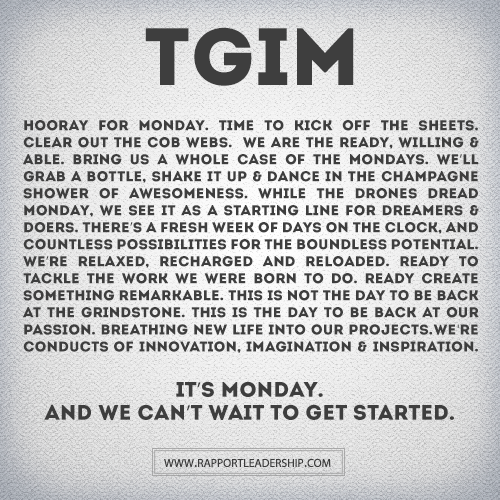 A new way to look at Mondays