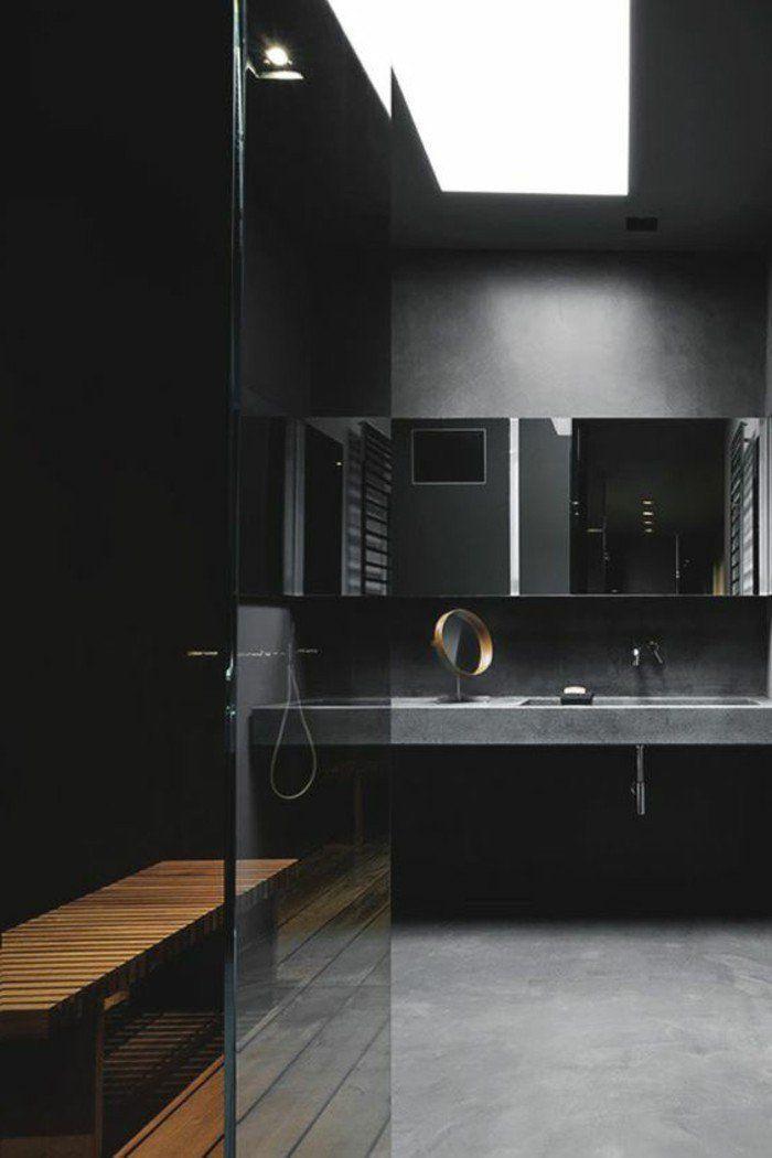 Quelle couleur salle de bain choisir 52 astuces en photos - Salle bain noire ...