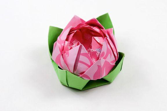 Origami Lotus Leaf Tutorial Crafts Pinterest Origami Origami