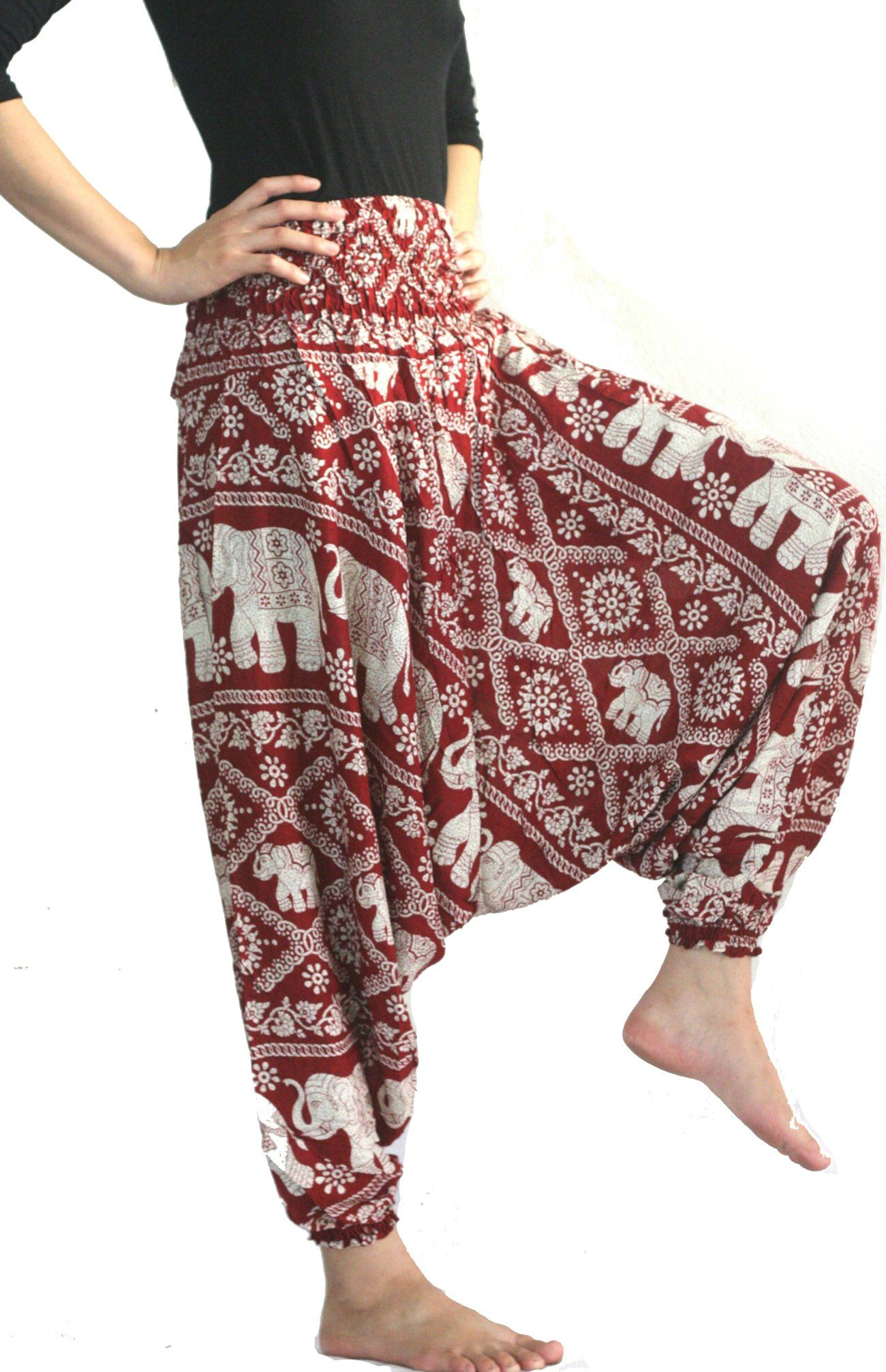 Boho Warm Pants Winter Harem Trouser Baggy Aladdin Gypsy Yoga Festival Pockets