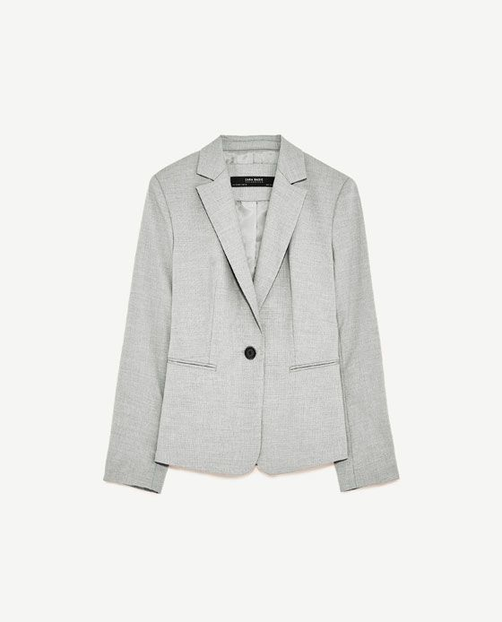 749b02e549 Image 8 of BLAZER WITH SHOULDER PADS from Zara | Mishono | Shoulder ...