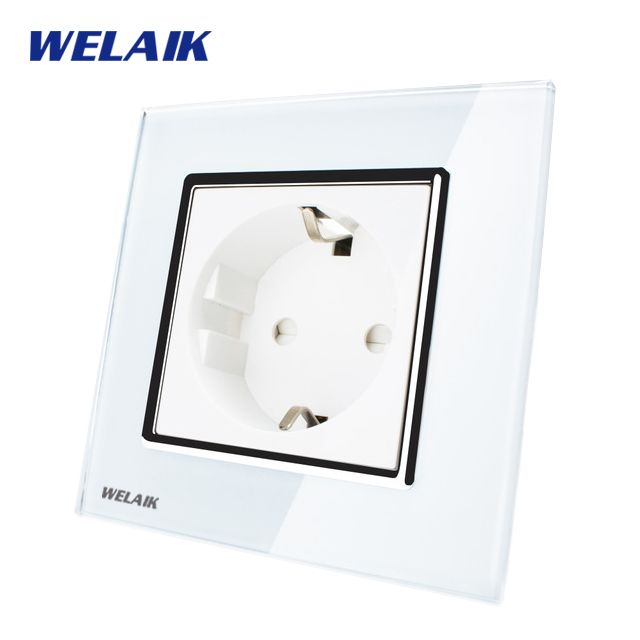 WELAIK EU Wall Socket European Standard Power Socket Wall Outlet ...
