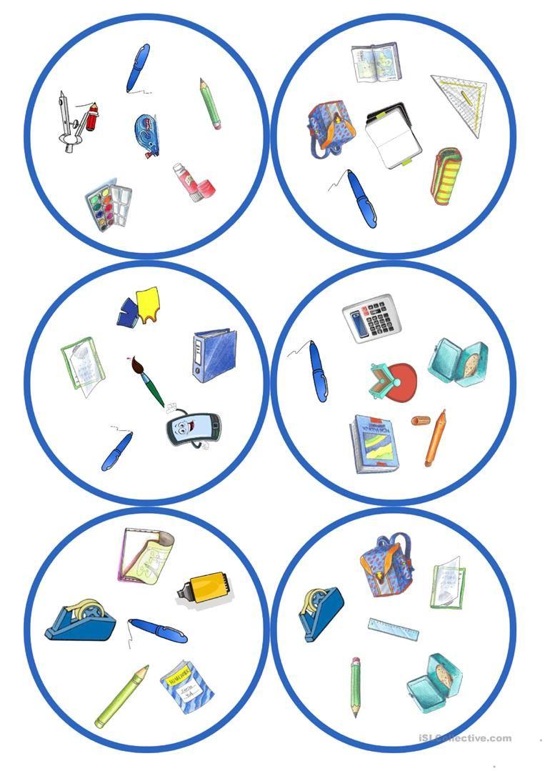 spiele im deutschunterricht dobble schulsachen 31 karten 6 symbole deutsch deutsch. Black Bedroom Furniture Sets. Home Design Ideas