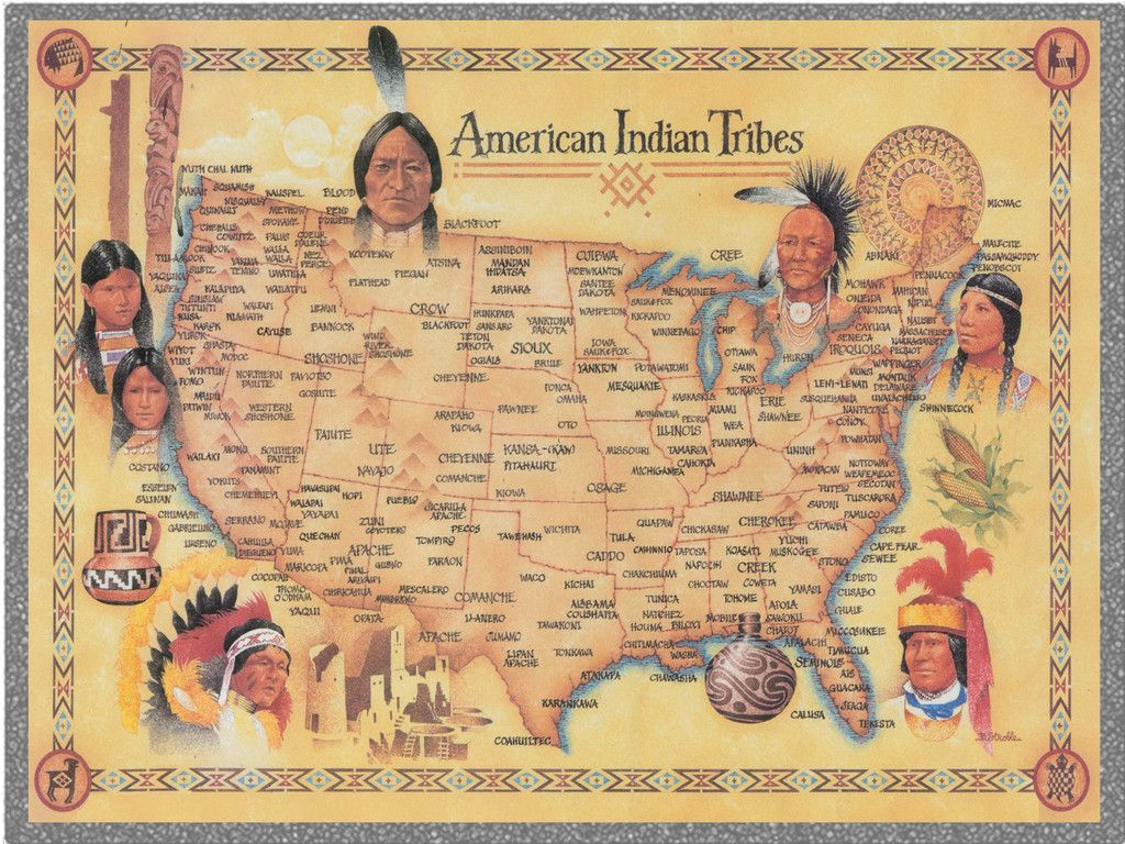 American Indian Tribes Map (With images) Native american
