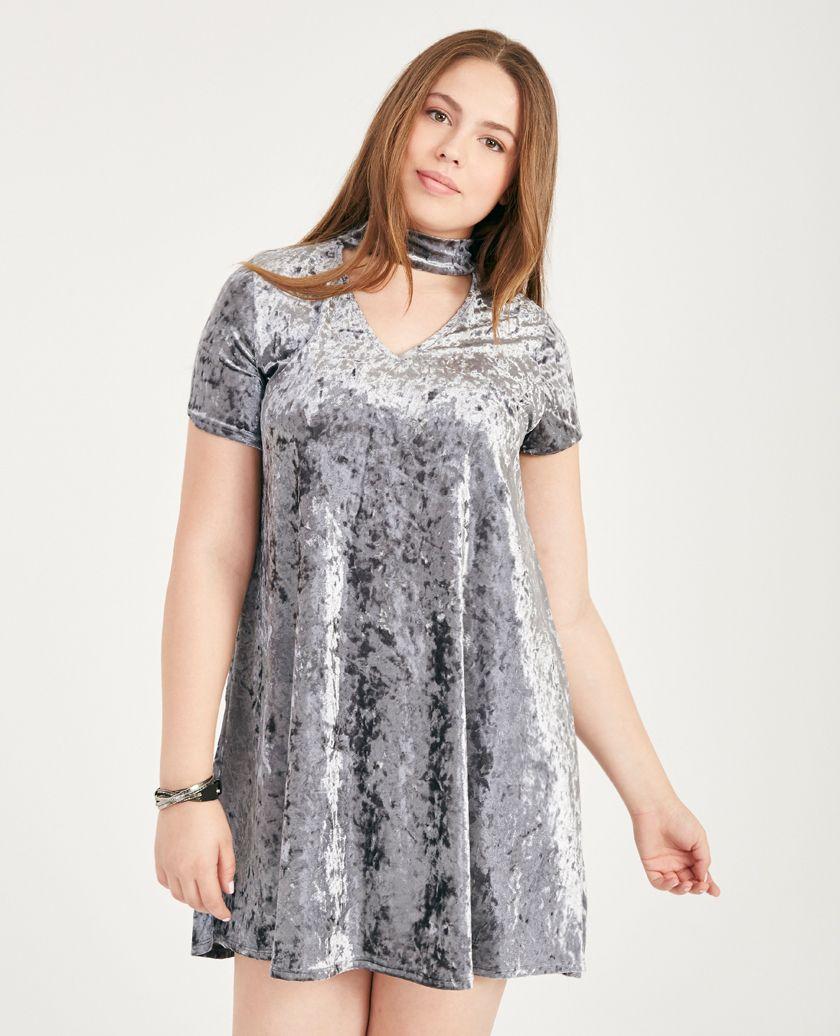 Plus Size Crushed Velvet Keyhole Shift Dress | Wet Seal Plus ...