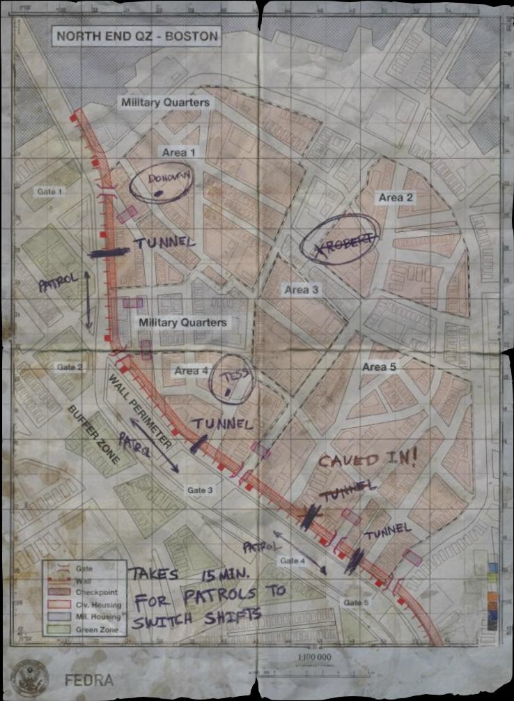Last of Us Boston Map | Boston map, Map
