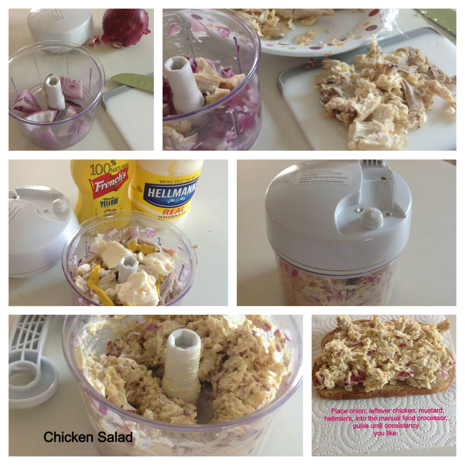 Quickest way to make chicken salad is in our manual food processor quickest way to make chicken salad is in our manual food processor add all ingredients forumfinder Images