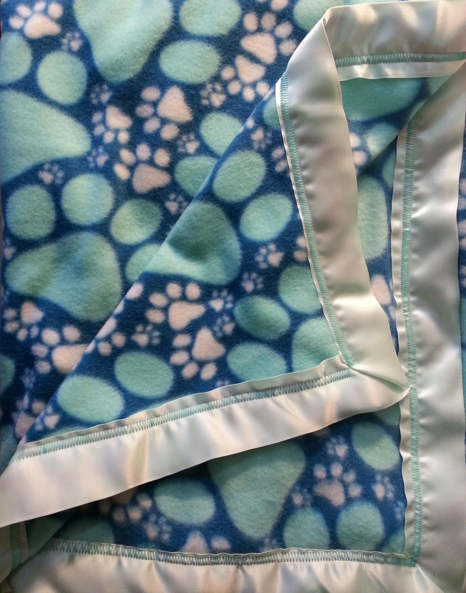 Blue and ice paw fleece blanket barking tree designs pinterest