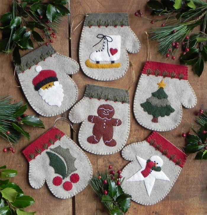 Mini Winter Woolie Ornaments ~ Mitten STOCKING sweater