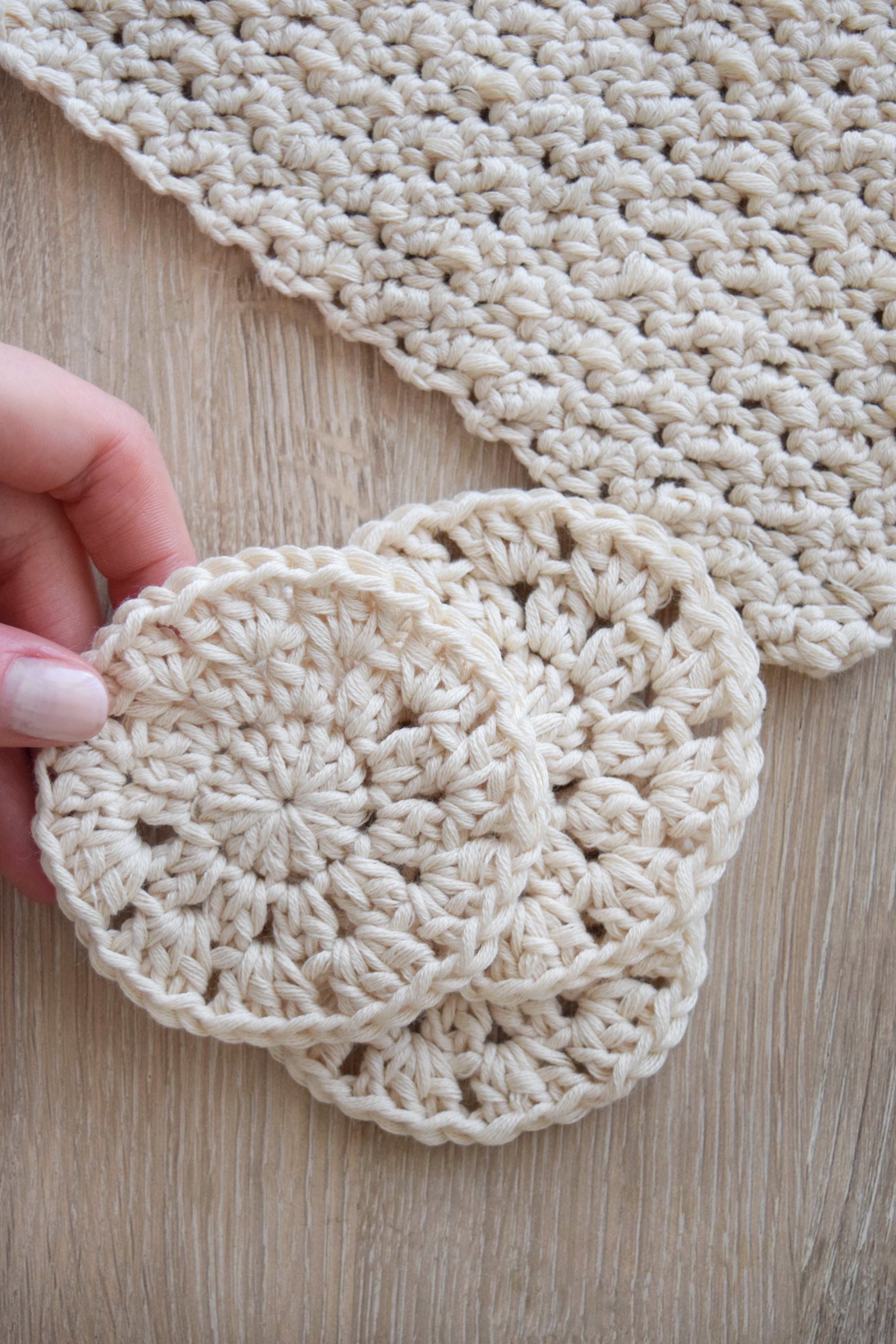 Dish Cloth and Face Scrubbie - free crochet pattern at Knitting ...