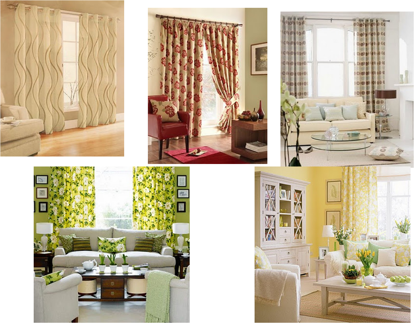 cortinas estampadas para salas modernas mis sillones