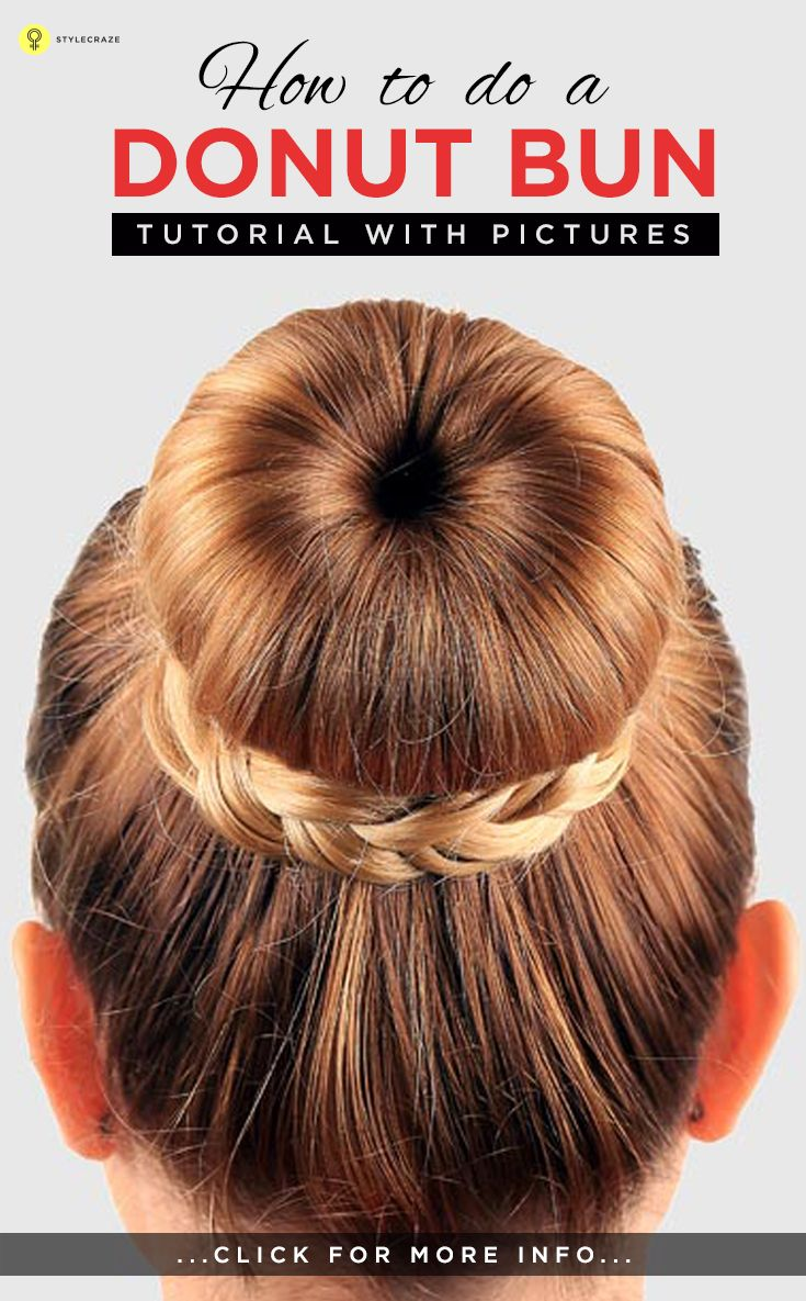 how to do a donut bun – pictorial | donut bun, big bun and bun