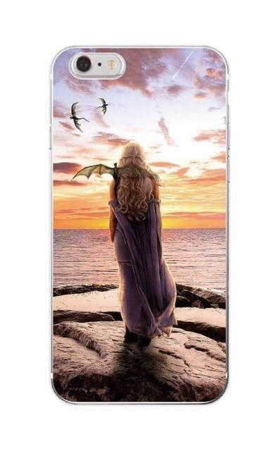 Game Thrones Daenerys Dragon Jon Snow tyrion lannister Soft Phone Case Fundas For iPhone 7 7plus 6 6S 6Plus 5 8 8Plus X - 7 / For iPhone 6Plus
