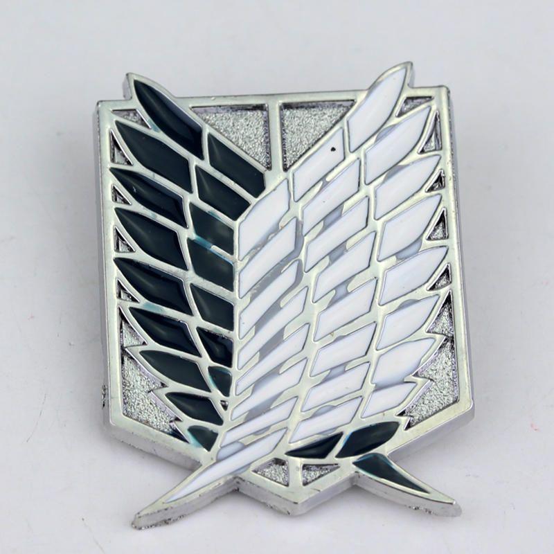 Serie de accesorios de ropa de anime ataque el titan broches broches pin badge pin sombrero de alfiler de corbata de plata de alta calidad envío libre