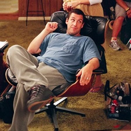 The Eames Lounge Chair Being Used By Adam Sandler In The Movie Click.