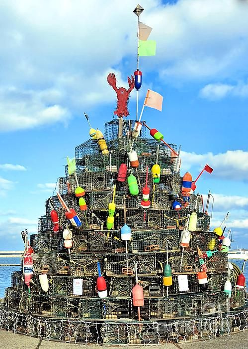 Lobster Traps Christmas Tree by Janice Drew | Lobster trap ...