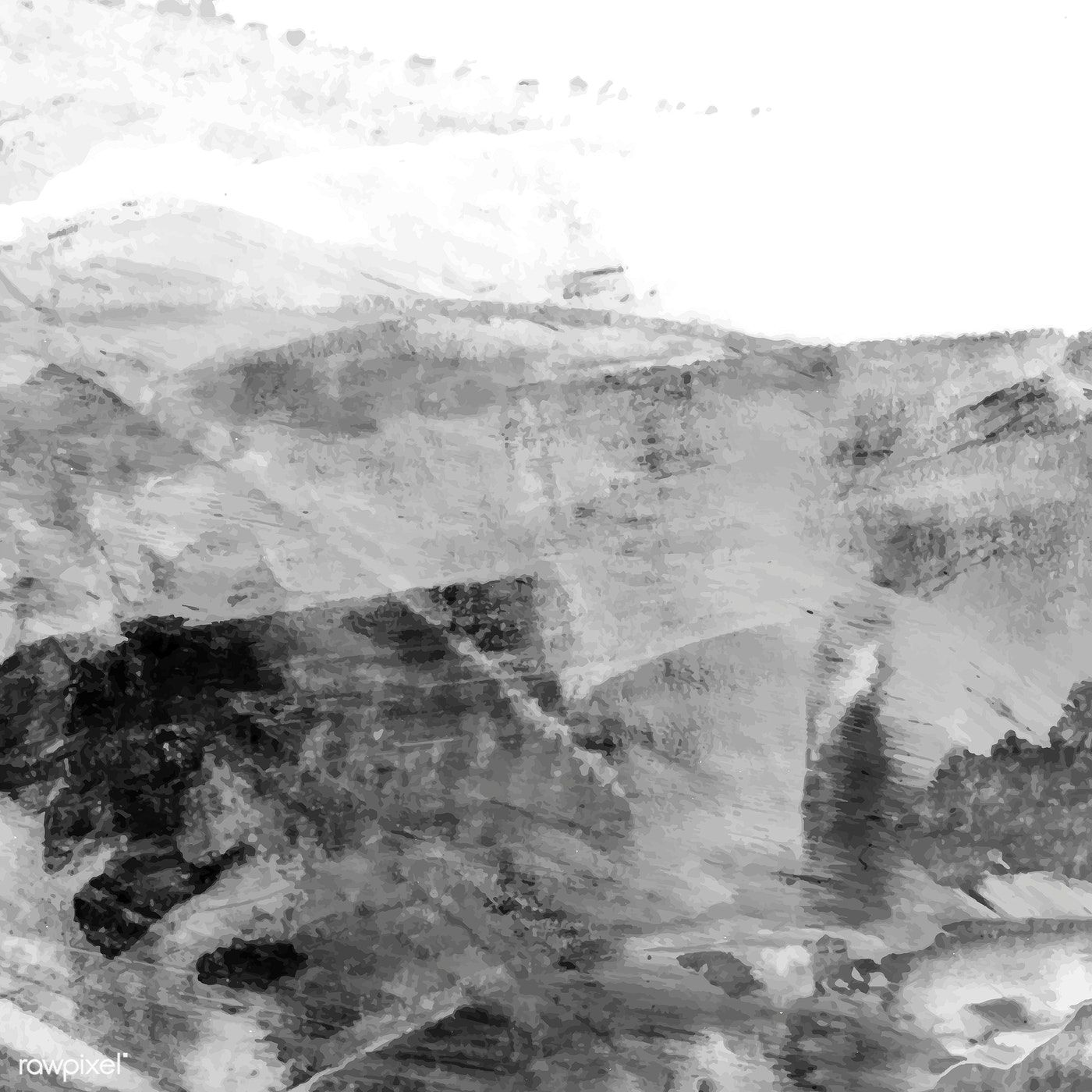 Black And White Acrylic Brush Stroke Textured Background Vector
