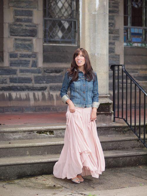 love pretty skirts with denim jackets