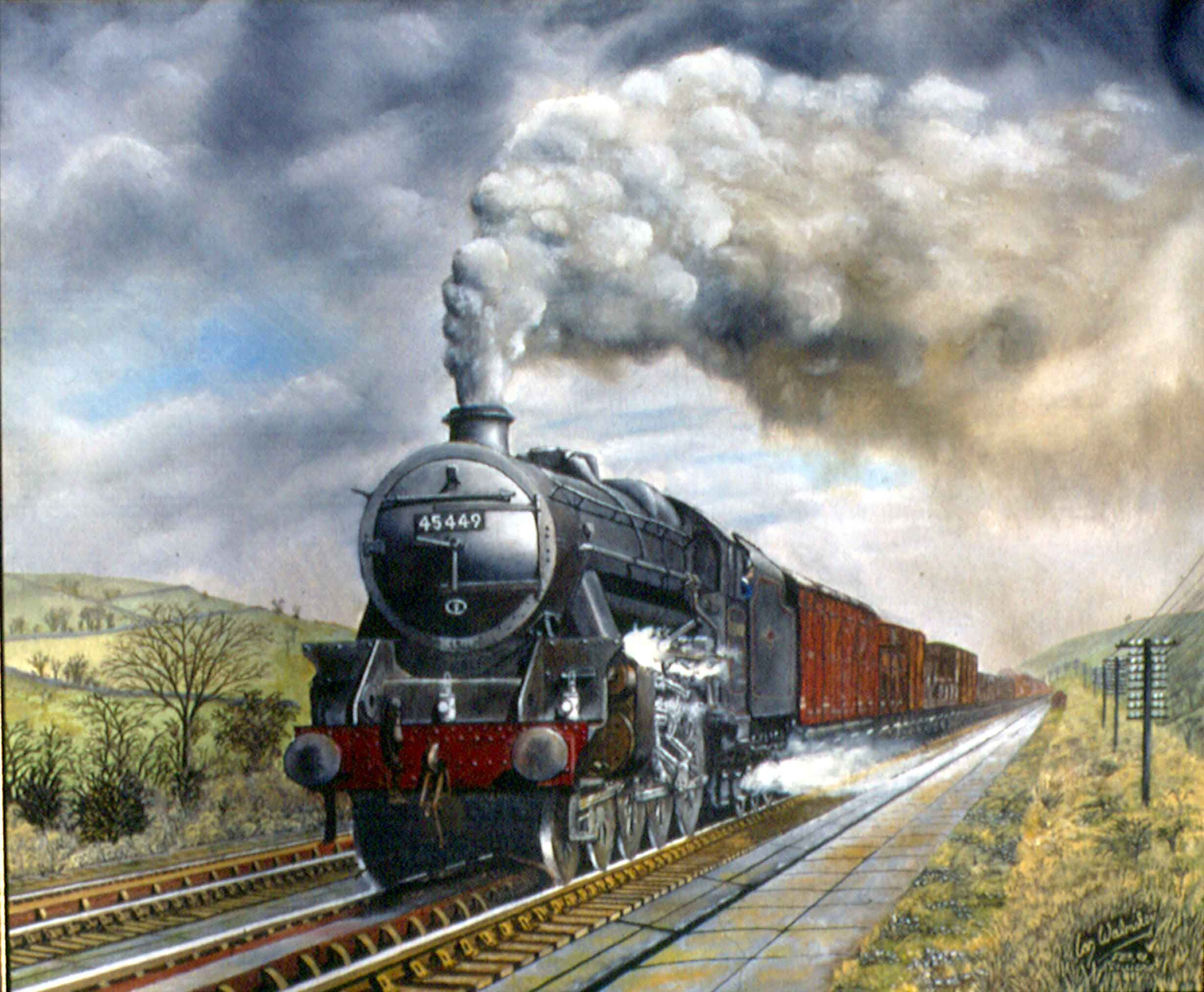 steam trains british in paintings www.whamart.co.uk ...