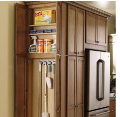 Add On Broom Closet In Just 6 8 Inches Kitchen Cabinets Makeover Farmhouse Kitchen Utility Cabinets